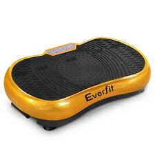 1000W Vibrating Plate Exercise Platform with Roller Wheels - Gold
