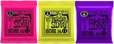 3 Sets of Ernie Ball Super / Regular OR Power Slinky Electric Guitar Strings