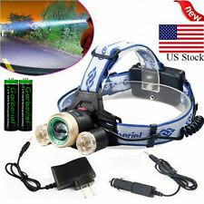 30000LM Tactical CREE XM-L T6 LED Headlamp Zoomable HeadLight + 18650 + Charger