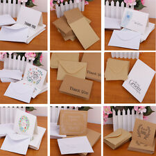 50pcs Blank Paper Thanks Cards Envelopes Greeting Wedding Party Reception