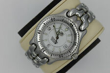 Tag Heuer Watch Mens WG5113 Automatic CHRONOMETER SEL WHITE S/EL LINK SS MINT