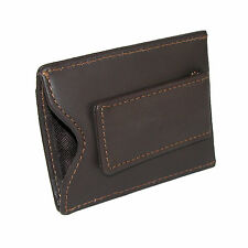 New DOPP Men's Leather Card Holder with Magnetic Money Clip Wallet
