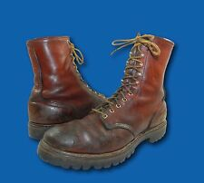 Vintage 80's RED WING Irish Setter Brown Leather Hunting Outdoor Work Boots 11 C