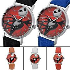 Quartz Watch Mens Wristwatches Bands Nightmare Dial Leather Womens Watches Gift