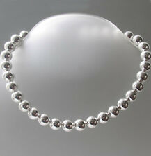 """12mm Italian Sterling Silver Large Ball Chain Necklace, Lengths 16"""" - 20"""""""