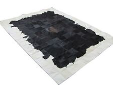 NEW Cowhide Rug Patchwork Cowskin Cow Hide Leather Carpet. White and Black.
