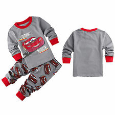 Unisex Lightning McQueen Cartoon Boys Girls Long Sleeve Kids Pyjamas Nightwear