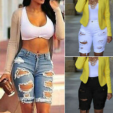Sexy Summer Fashion Women's Shorts Ripped Jeans Pedal Pusher Casual Denim