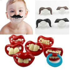 Silicone Funny Nipple Dummy Baby Soother Joke Prank Toddler Pacy Orthodontic Nip