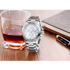 Classic Mens Wristwatches Stainless Steel Band Quartz Watch Date Sport Watches