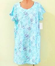 NEW 100% Cotton Short Sleeve Sun Dress/ Beach Cover Up w/ 2 Pockets - Size S/M