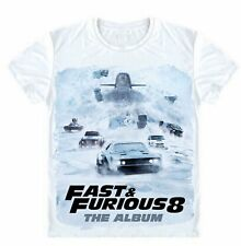 Fast And Furious8 T-Shirts Vin Dinel And The Rock Made Of Catton Hot 2017