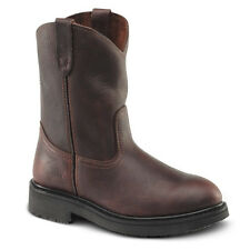"New Mens Brown 10"" Roper Leather Steel Toe Work Boots BAT-107 Size 5-13 (D, M)"