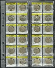 UK £1 ONE POUND COIN RACE - All 24 designs - 41 Coins - ALL YEARS - 1983-2015