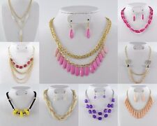 1000 PC WHOLESALE LOT COSTUME FASHION JEWELRY NECKLACE EARRING SETS (500 SETS)
