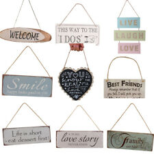 Assorted Wooden Board Hanging Plaque Sign Wall Door Home Decor Gifts