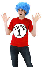 Dr. Seuss Thing 1 Adult Costume Short Sleeve T-Shirt and Wig