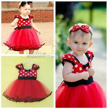 Baby Girl Kid Toddler Newborn Party Polka Dot Dresses Layered Tutu Clothing 0-9M
