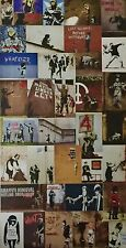 "Banksy Postcard size approx  6""x4"" Photo Print Sticker  *101-131*"