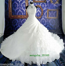 Vintage Wedding Dresses Lace Ball Gown High Neck Chapel Train Bridal Gowns