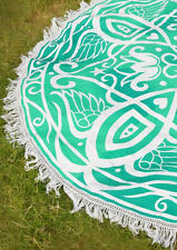 Holiday Travel Gym Camping Pool Cover Ups Print Tassel Round Blanket Towel