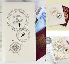 Personalised Travel Stamp Leather Document Wallet Leather Passport A5 Diary