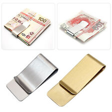 Mens Stainless Steel Metal Money Cash Note Thin Holder Clip Gift Wallet