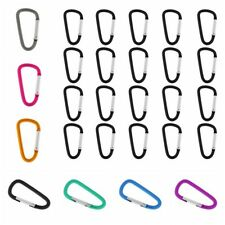 20X D-Ring Carabiner Spring Snap Key Chain Clip Hook Outdoor Climbing Buckle