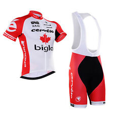 Mens Bike Team Outdoor Sports Clothing Cycle Short Sleeve Jersey Bib Shorts Sets