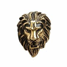 Retro Casting Stainless Lion Head Mens Ring Biker Band Punk Jewelry Finger Gift