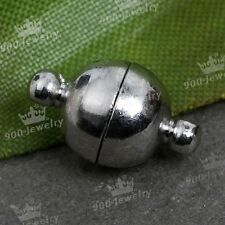 5 Sets Round Strong Magnetic Clasps Connector Findings For Jewelry Making 8-12mm