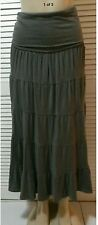 NEW INC International Concepts Convertible Maxi Skirt Grey Knight Size L, XL