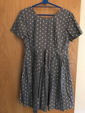 ASOS Pale Blue And White Spotted Dress Size 12