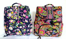 Vera Bradley Double Zip Backpack Ribbons or Symphony in Hue NWT