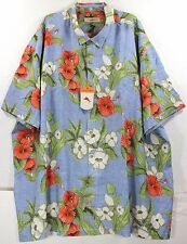 NWT Tommy Bahama Floral Persuasion-Sailfish 100% Silk Camp Shirt $138