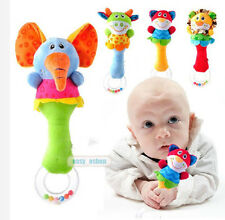Hot Baby Kids Soft Animal Model Handbells Rattles Handle Developmental Toys