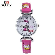 Hello Kitty Watch Children's Watches Leather Kids Watches Girl Cartoon Watch Bab