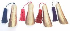 HAND  BEATEN METAL SHOE HORN  WIH SABRA SILK TASSEL , 4 COLOURS AVAILABLE