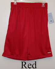 Reebok Gray, Green, White or Red Boys Mesh Athletic Shorts Sizes S - M or L