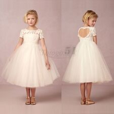 Girls Elegant Dress Princess Pageant Wedding Bridesmaid Birthday Party Prom Gown