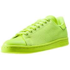 adidas Stan Smith Solar Yellow Womens Trainers Neon New Shoes