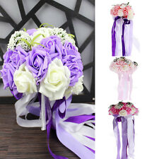 Artificial Foam Wedding Bouquet for Brides Bridesmaid Hand Holding Rose Flowers