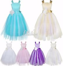 Girls Communion Party Prom Princess Pageant Bridesmaid Wedding Flower Girl Dress