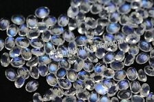 Natural Rainbow Moonstone Faceted Oval 3x4mm - 6x8mm Calibrated Size Gemstone