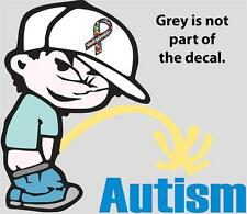 Choose Size PISS ON AUTISM VINYL DECAL calvin peeing awareness support