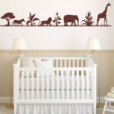 ANIMAL SAFARI nursery wall stickers baby kids bedroom vinyl wall decal