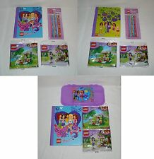 Lego Friends Gift Set - Lego Notebook, Pencils, Poly Bag 30106 and 30108