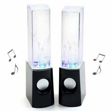 LED Dancing Water Music Fountain Light Computer Speaker Iphone 3.5mm PC Gift