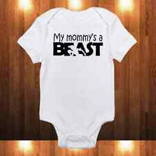 My Mommy's a Beast Onesie - Fitness Enthusiast Workout Baby Girl/Boy Bodysuit