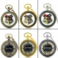 Antique Harry Potter Theme Case Mens Pocket Watch Quartz Necklace Chain Pendant